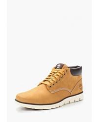 Мужские табачные кожаные повседневные ботинки от Timberland