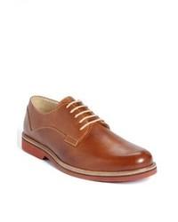 Табачные кожаные туфли дерби