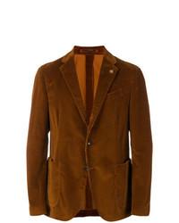Табачный вельветовый пиджак