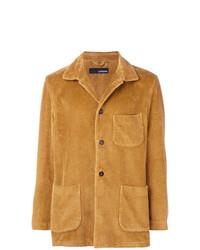 Мужской табачный вельветовый пиджак от Lardini