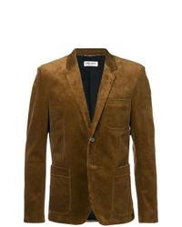 Мужской табачный вельветовый пиджак от Saint Laurent
