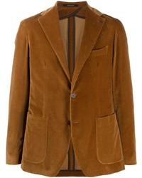 Мужской табачный вельветовый пиджак от Tagliatore