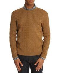 Табачный вязаный свитер