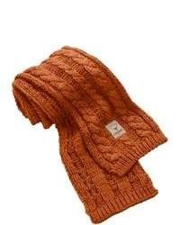 Табачный вязаный шарф