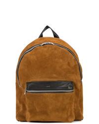 Табачный замшевый рюкзак