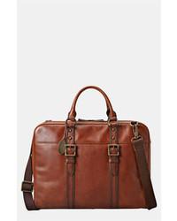 Табачный кожаный портфель