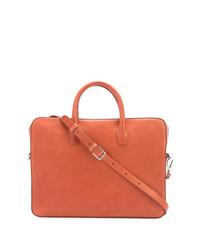 Табачный кожаный портфель от Mansur Gavriel