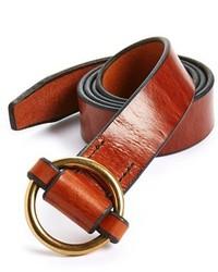 Табачный кожаный ремень