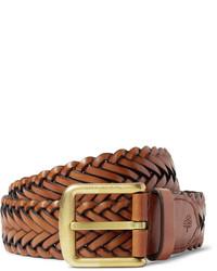 Мужской табачный кожаный ремень от Mulberry