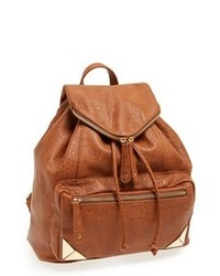 Табачный кожаный рюкзак