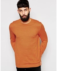 Мужской табачный свитер с круглым вырезом от Asos