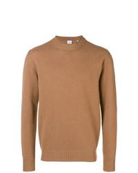 Мужской табачный свитер с круглым вырезом от Aspesi