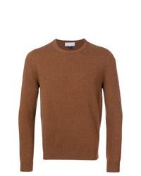 Мужской табачный свитер с круглым вырезом от Entre Amis