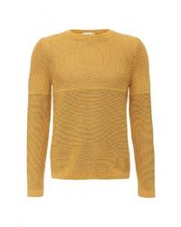 Мужской табачный свитер с круглым вырезом от Topman
