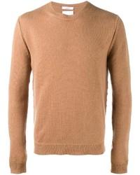 Мужской табачный свитер с круглым вырезом от Valentino