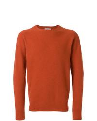 Мужской табачный свитер с круглым вырезом от YMC