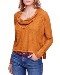 Табачный свитер с хомутом