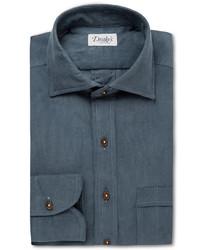 Темно-бирюзовая классическая рубашка