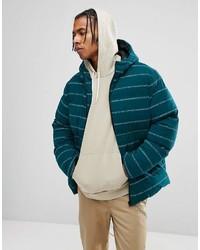 Мужская темно-бирюзовая куртка-пуховик от Asos