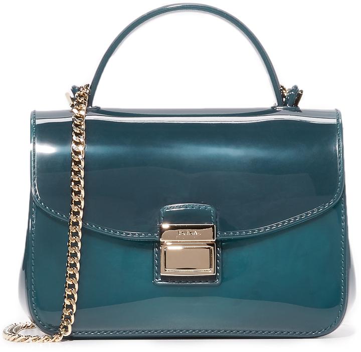 0b7747e04741 Темно-бирюзовая резиновая сумка через плечо от Furla, 11 531 руб ...