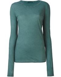 Женская темно-бирюзовая футболка с длинным рукавом от Humanoid