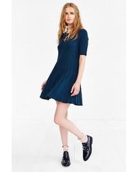 Темно-бирюзовое платье-свитер