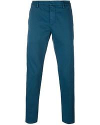 Темно-бирюзовые брюки чинос