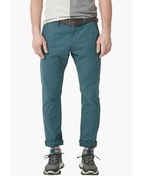 Темно-бирюзовые брюки чинос от s.Oliver