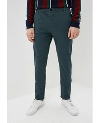 Темно-бирюзовые брюки чинос от Topman