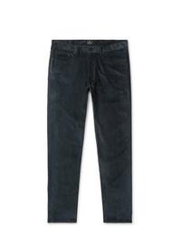 Темно-бирюзовые вельветовые брюки чинос