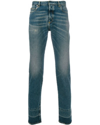 Темно-бирюзовые джинсы