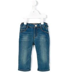 Детские темно-бирюзовые джинсы для девочке от Armani Junior
