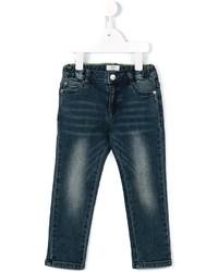 Детские темно-бирюзовые джинсы для мальчику от Armani Junior