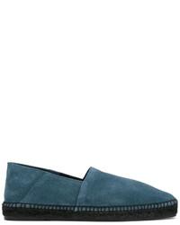 Мужские темно-бирюзовые замшевые эспадрильи от Tom Ford