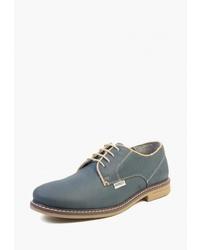 Темно-бирюзовые кожаные туфли дерби от Airbox