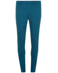 Темно-бирюзовые узкие брюки