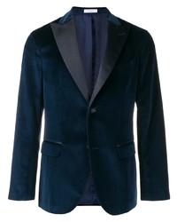 Мужской темно-бирюзовый бархатный пиджак от Boglioli