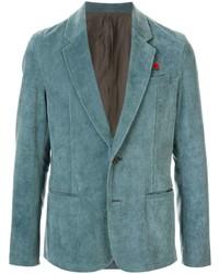 Мужской темно-бирюзовый вельветовый пиджак от Undercover