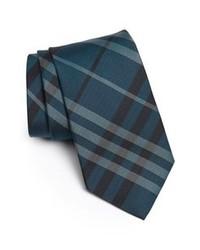 Темно-бирюзовый галстук в вертикальную полоску