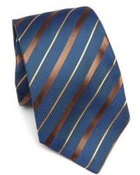 Темно-бирюзовый галстук в горизонтальную полоску