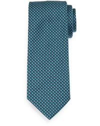 Темно-бирюзовый галстук с принтом