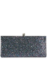 Темно-бирюзовый кожаный клатч от Jimmy Choo