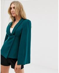 Темно-бирюзовый пиджак-накидка от Lavish Alice