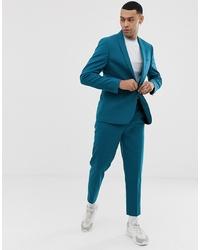Мужской темно-бирюзовый пиджак от ASOS DESIGN