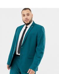 Мужской темно-бирюзовый пиджак от Farah Smart