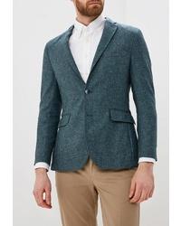 Мужской темно-бирюзовый пиджак от Hackett London