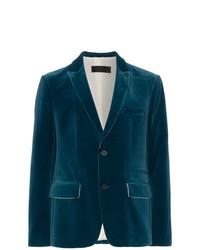 Мужской темно-бирюзовый пиджак от Haider Ackermann