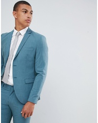 Мужской темно-бирюзовый пиджак от Selected Homme