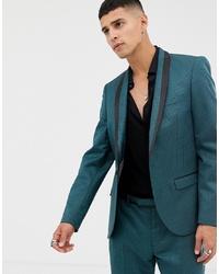 Мужской темно-бирюзовый пиджак от Twisted Tailor
