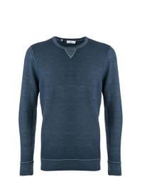 Мужской темно-бирюзовый свитер с круглым вырезом от Closed
